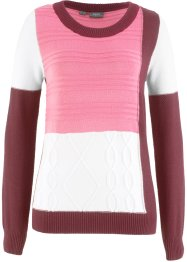 Rundhals-Pullover mit Strickmuster, bpc bonprix collection
