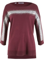 Vokuhila-Pullover mit Glitzerbesatz, bpc bonprix collection