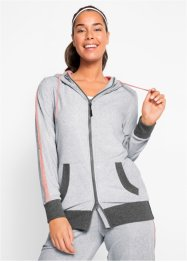 Veste sweat en velours ras, manches longues, bpc bonprix collection