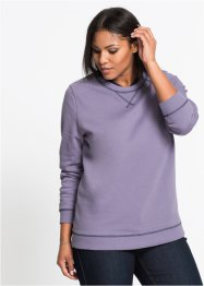 Sweat-shirt à col double, manches longues, John Baner JEANSWEAR
