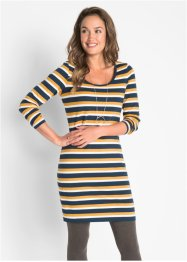 Stretch-Shirtkleid, Langarm gestreift, bpc bonprix collection