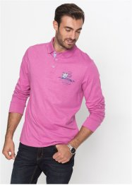 Langarmpoloshirt im Regular Fit, bpc selection