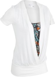 Kurzarm-Shirt in 2-in-1-Optik, bpc bonprix collection