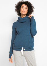 Sweat-Hoodie mit Bindefunktion am Saum, langarm, bpc bonprix collection