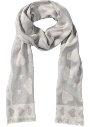Foulard jacquard motif cœurs, bpc bonprix collection
