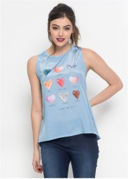 Top-blouse en satin, RAINBOW