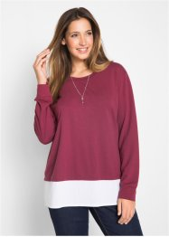 Sweat-Pullover mit Bluseneinsatz, bpc bonprix collection