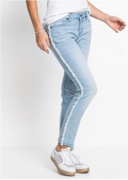 Relaxed-Jeans mit Fransen, RAINBOW