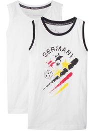 Deutschland Tanktop (2er-Pack), bpc bonprix collection