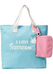 Shopper mit Print und extra Tasche, bpc bonprix collection