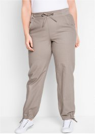 Leinen-Hose mit Rippbund, bpc bonprix collection