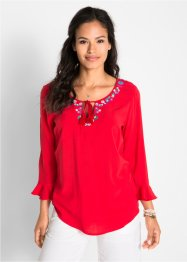 3/4-Arm-Bluse mit Stickerei, bpc bonprix collection