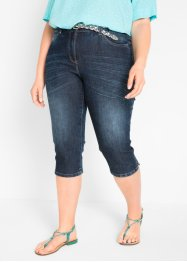 Stretch-Capri-Jeans im Used-Look, bpc bonprix collection