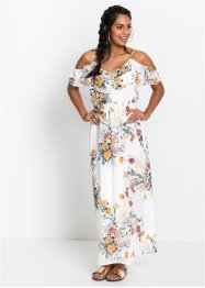 Cold-Shoulder-Maxikleid mit Blumenprint, BODYFLIRT