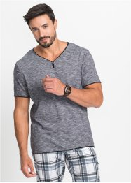 T-shirt col V chiné Regular Fit, bpc bonprix collection
