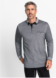 Langarmpoloshirt meliert Regular Fit, bpc selection