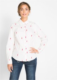 Langarm-Bluse mit Hirschmuster, bpc bonprix collection