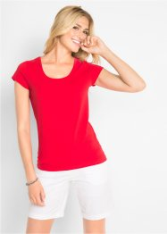 T-shirt extensible à manches courtes, bpc bonprix collection
