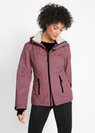 Veste outdoor fonctionnelle avec synthétique imitation fourrure peluche, bpc bonprix collection