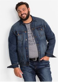 Stretch-Jeansjacke mit Badge Regular Fit, John Baner JEANSWEAR