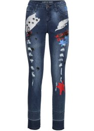 Skinny Jeans mit Patches, RAINBOW