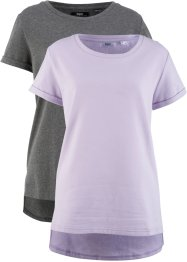 Lot de 2 T-shirts style court-long, bpc bonprix collection