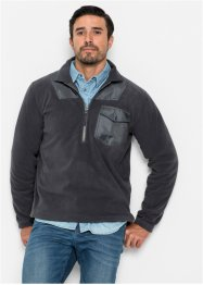 Fleece-Sweatshirt mit Reissverschluss Regular Fit, bpc bonprix collection
