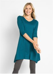 Baumwoll Flammgarn-Jerseykleid, 3/4 Arm, bpc bonprix collection