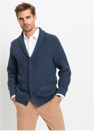 Strickjacke mit recycelter Baumwolle, bpc bonprix collection