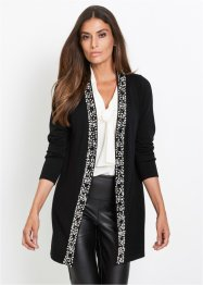 Gilet en maille avec application perles, bpc selection premium