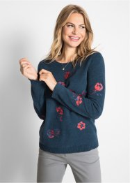 Pullover mit Blumenmuster, bpc bonprix collection