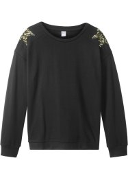 Sweat-shirt à étoiles en paillettes, bpc bonprix collection