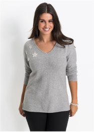 Pull en maille avec applications, BODYFLIRT