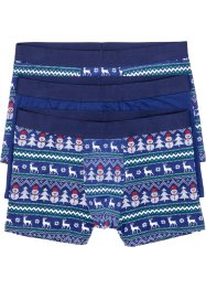 Lot de 3 boxers avec motifs de Noël, bpc bonprix collection