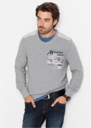 V-Pullover m. Stickerei mit recycelter Baumwolle, bpc bonprix collection