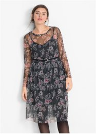 Robe en mesh à imprimé floral, bpc bonprix collection