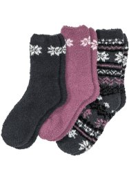 Kuschelsocken (3er-Pack), bpc bonprix collection