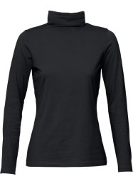Basic Stretch-Rollkragenshirt, Langarm, bpc bonprix collection