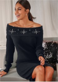 Strickkleid mit Applikation, BODYFLIRT