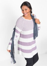 Gestreifter Pullover in Rippstruktur, bpc bonprix collection