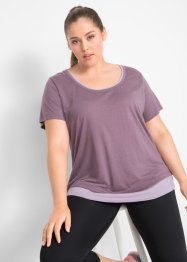 T-shirt de sport style 2 en 1, manches courtes, bpc bonprix collection