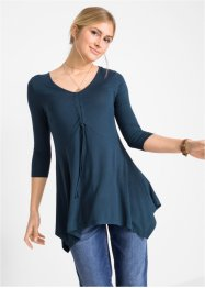 Longshirt in Zipfelform mit 3/4-Arm, bpc bonprix collection