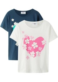 Mädchen T-Shirt (2er-Pack), bpc bonprix collection