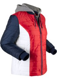 Veste matelassée fonctionnelle avec empiècements sweat, style 2 en 1, bpc bonprix collection