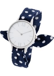 Montre avec bracelet textile à pois, bpc bonprix collection