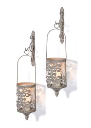 Wandkerzenhalter mit Patina-Effekt (4-tlg.Set), bpc living bonprix collection