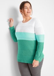 Pullover in Strukturstreifenoptik, bpc bonprix collection