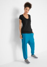 T-shirt long de sport extensible, manches courtes, bpc bonprix collection