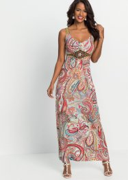 Sommer-Maxikleid mit Print und Applikationen, BODYFLIRT boutique