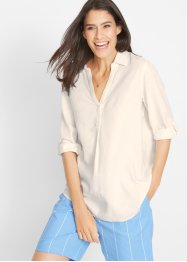 Bluse, Leinen, bpc bonprix collection
